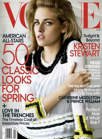 Kristen Stevart on the Cover of Vogue Magazine February 2011