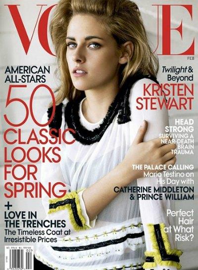 Kristen Stevart on the Cover of Vogue Magazine February 2011